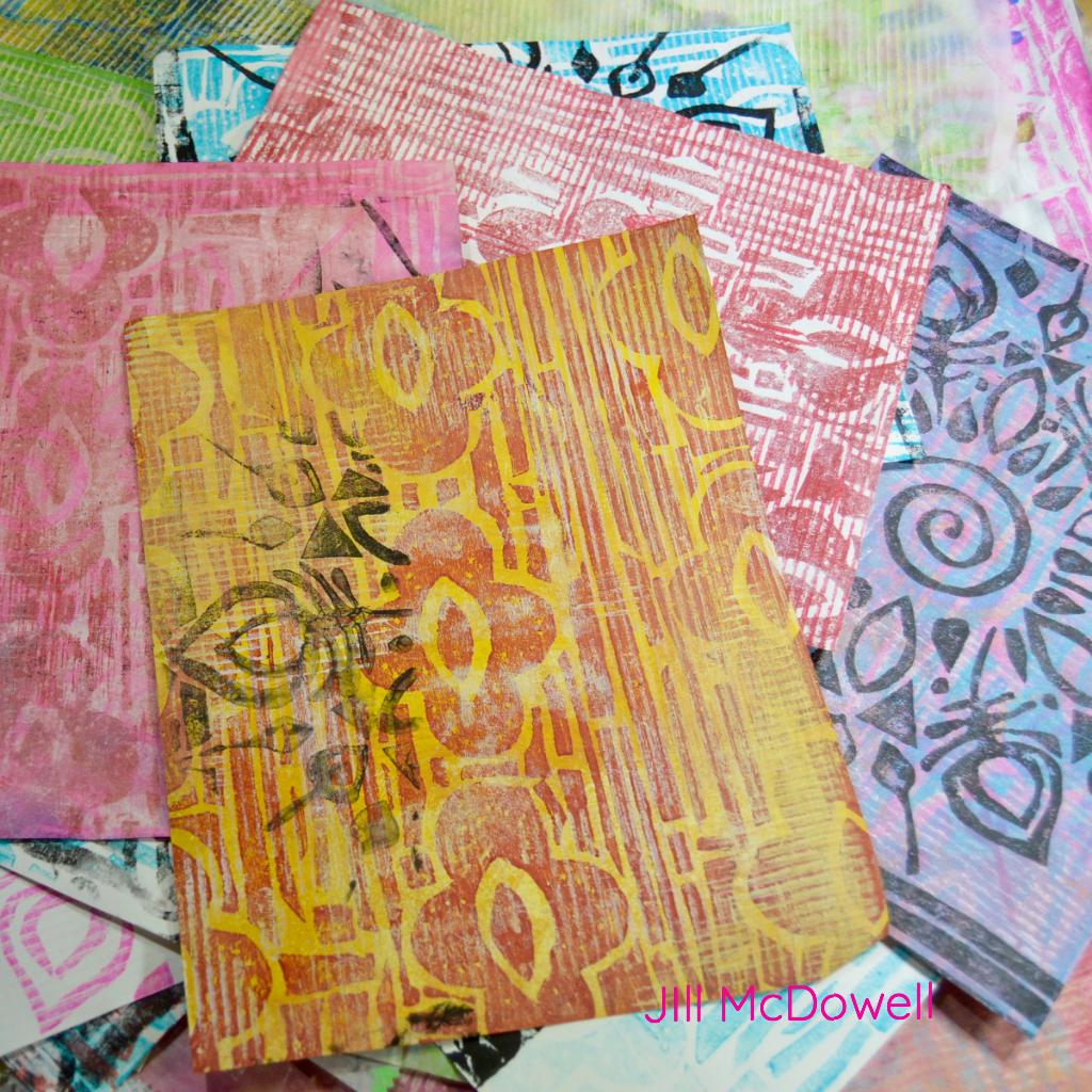 Using Stencils to Make Collagraphs - Infinite Possibilities