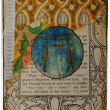 Jill-mcdowell-stencilgirl-stencil-altered-book-page-torii-crest