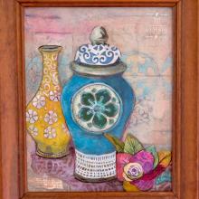Jill-mcdowell-stencilgirl-jardinier-stencil-mixed-media-panel