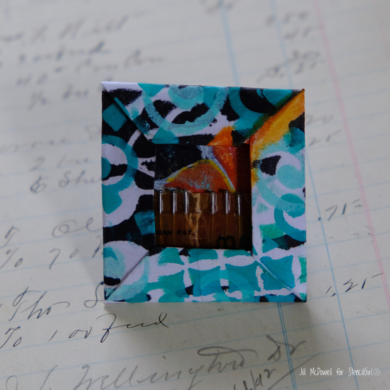 Jill-mcdowell-stencilgirl-squared-off-0rigami-frame-pins